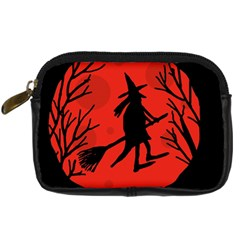 Halloween Witch   Red Moon Digital Camera Cases by Valentinaart