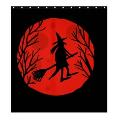 Halloween Witch   Red Moon Shower Curtain 66  X 72  (large)  by Valentinaart
