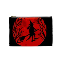 Halloween Witch   Red Moon Cosmetic Bag (medium)  by Valentinaart