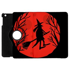 Halloween Witch   Red Moon Apple Ipad Mini Flip 360 Case by Valentinaart