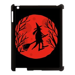 Halloween Witch   Red Moon Apple Ipad 3/4 Case (black) by Valentinaart