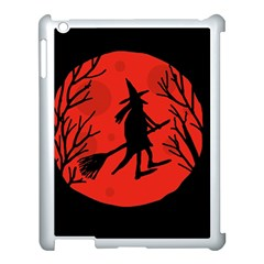 Halloween Witch   Red Moon Apple Ipad 3/4 Case (white) by Valentinaart