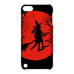 Halloween Witch   Red Moon Apple Ipod Touch 5 Hardshell Case With Stand by Valentinaart