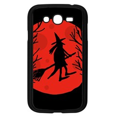 Halloween Witch   Red Moon Samsung Galaxy Grand Duos I9082 Case (black) by Valentinaart