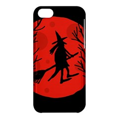 Halloween Witch   Red Moon Apple Iphone 5c Hardshell Case by Valentinaart