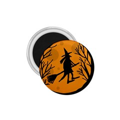Halloween Witch   Orange Moon 1 75  Magnets by Valentinaart
