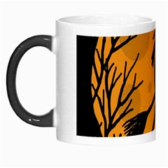 Halloween Witch   Orange Moon Morph Mugs by Valentinaart