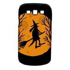 Halloween Witch   Orange Moon Samsung Galaxy S Iii Classic Hardshell Case (pc+silicone) by Valentinaart