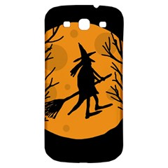 Halloween Witch   Orange Moon Samsung Galaxy S3 S Iii Classic Hardshell Back Case by Valentinaart