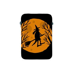 Halloween Witch   Orange Moon Apple Ipad Mini Protective Soft Cases by Valentinaart