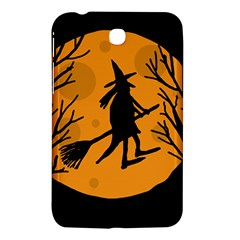 Halloween Witch   Orange Moon Samsung Galaxy Tab 3 (7 ) P3200 Hardshell Case  by Valentinaart