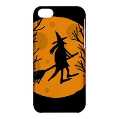 Halloween Witch   Orange Moon Apple Iphone 5c Hardshell Case by Valentinaart