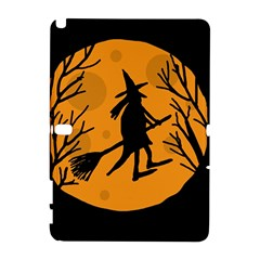 Halloween Witch   Orange Moon Samsung Galaxy Note 10 1 (p600) Hardshell Case by Valentinaart
