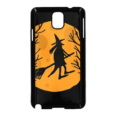 Halloween Witch   Orange Moon Samsung Galaxy Note 3 Neo Hardshell Case (black) by Valentinaart