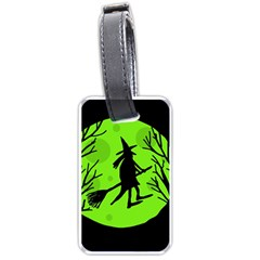 Halloween Witch   Green Moon Luggage Tags (two Sides) by Valentinaart