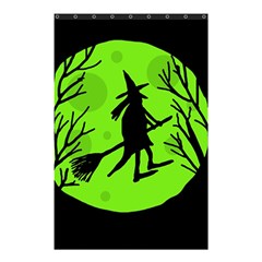 Halloween Witch   Green Moon Shower Curtain 48  X 72  (small)  by Valentinaart