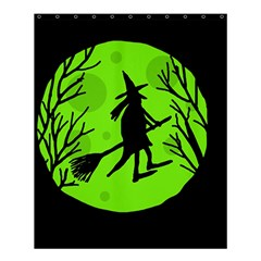 Halloween Witch   Green Moon Shower Curtain 60  X 72  (medium)  by Valentinaart