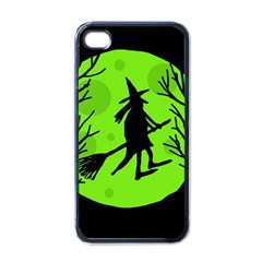 Halloween Witch   Green Moon Apple Iphone 4 Case (black) by Valentinaart