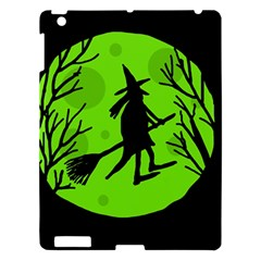 Halloween Witch   Green Moon Apple Ipad 3/4 Hardshell Case by Valentinaart
