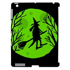 Halloween Witch   Green Moon Apple Ipad 3/4 Hardshell Case (compatible With Smart Cover) by Valentinaart