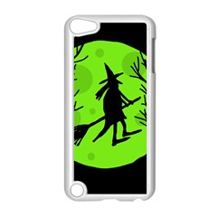 Halloween Witch   Green Moon Apple Ipod Touch 5 Case (white) by Valentinaart
