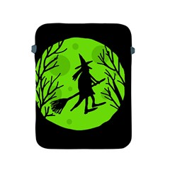 Halloween Witch   Green Moon Apple Ipad 2/3/4 Protective Soft Cases by Valentinaart