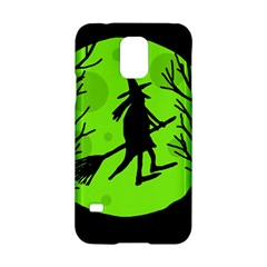 Halloween Witch   Green Moon Samsung Galaxy S5 Hardshell Case  by Valentinaart