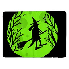 Halloween Witch   Green Moon Samsung Galaxy Tab Pro 12 2  Flip Case by Valentinaart