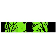Halloween Witch   Green Moon Flano Scarf (large) by Valentinaart