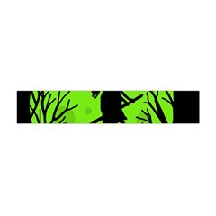 Halloween Witch   Green Moon Flano Scarf (mini) by Valentinaart