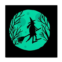 Halloween Witch   Cyan Moon Tile Coasters by Valentinaart