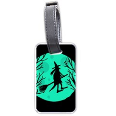Halloween Witch   Cyan Moon Luggage Tags (one Side)  by Valentinaart