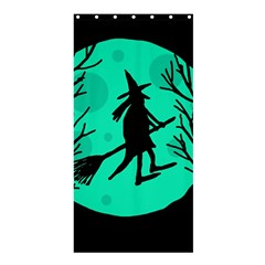 Halloween Witch   Cyan Moon Shower Curtain 36  X 72  (stall)  by Valentinaart