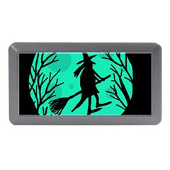 Halloween Witch   Cyan Moon Memory Card Reader (mini) by Valentinaart