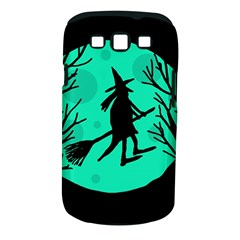 Halloween Witch   Cyan Moon Samsung Galaxy S Iii Classic Hardshell Case (pc+silicone) by Valentinaart