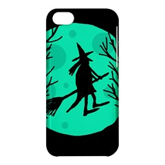 Halloween Witch   Cyan Moon Apple Iphone 5c Hardshell Case by Valentinaart