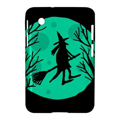 Halloween Witch   Cyan Moon Samsung Galaxy Tab 2 (7 ) P3100 Hardshell Case  by Valentinaart