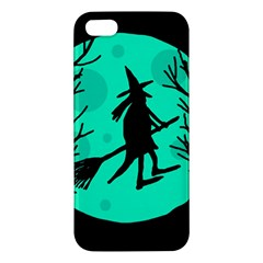 Halloween Witch   Cyan Moon Iphone 5s/ Se Premium Hardshell Case by Valentinaart