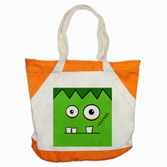 Halloween Frankenstein   Green Accent Tote Bag by Valentinaart