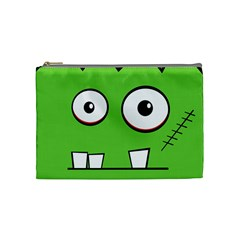 Halloween Frankenstein   Green Cosmetic Bag (medium)  by Valentinaart