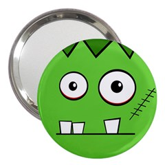 Halloween Frankenstein   Green 3  Handbag Mirrors by Valentinaart