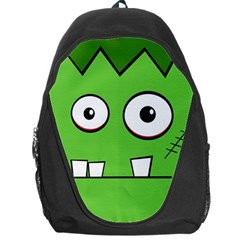Halloween Frankenstein   Green Backpack Bag by Valentinaart