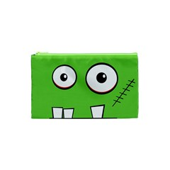 Halloween Frankenstein   Green Cosmetic Bag (xs)
