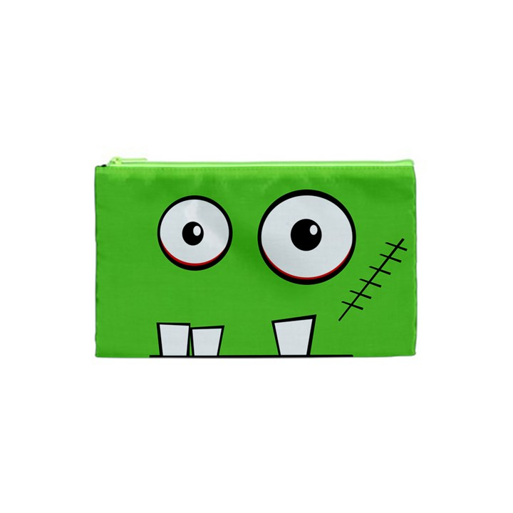 Halloween Frankenstein - green Cosmetic Bag (XS)