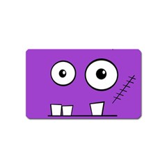 Halloween Frankenstein   Purple Magnet (name Card) by Valentinaart