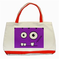 Halloween Frankenstein   Purple Classic Tote Bag (red) by Valentinaart