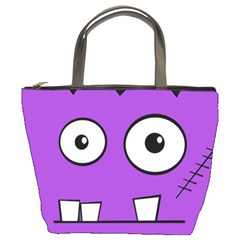 Halloween Frankenstein   Purple Bucket Bags by Valentinaart