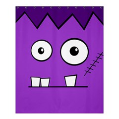 Halloween Frankenstein   Purple Shower Curtain 60  X 72  (medium)  by Valentinaart