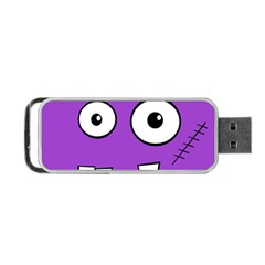 Halloween Frankenstein   Purple Portable Usb Flash (two Sides) by Valentinaart