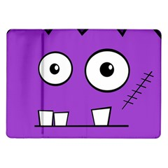 Halloween Frankenstein   Purple Samsung Galaxy Tab 10 1  P7500 Flip Case by Valentinaart